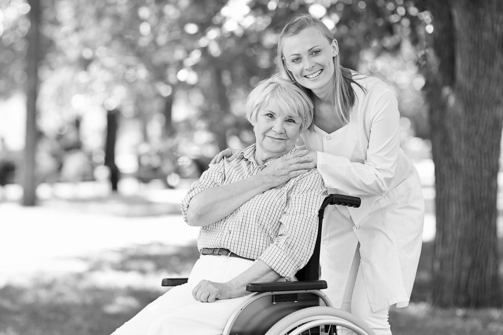 caregiver and elderly